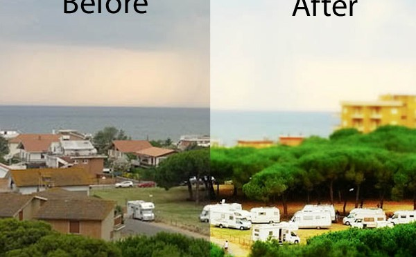 Easiest way to do tilt shift pictures